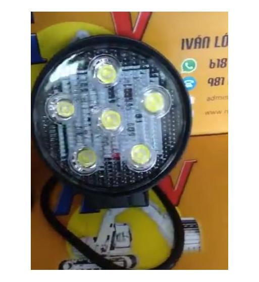 FARO TRABAJO REDONDO CON 6 LEDS (18W) - 10-80V