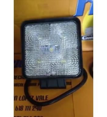 FARO DE TRABAJO CUADRADO CON 5 LEDS (15W) - 10-80V