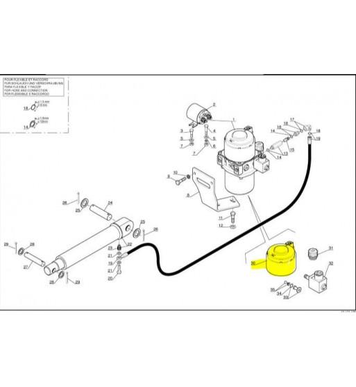 MOTOR ELÉCTRICO DE ELEVACIÓN DE CABINA MANITOU MH20 MSI25