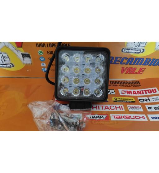 FARO DE TRABAJO LED REDONDO 9 LEDS - 27W - 9-48V
