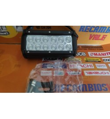 FARO DE TRABAJO LED RECTANGULAR 12 LEDS X 3W - 36W